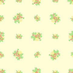 Floral hand drawned seamless bacground