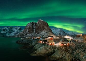 Northern lights in the Lofoten Islands