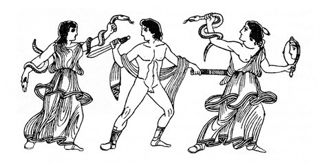 Greek mythology - Orestes pursued by the Erinyes or Furies