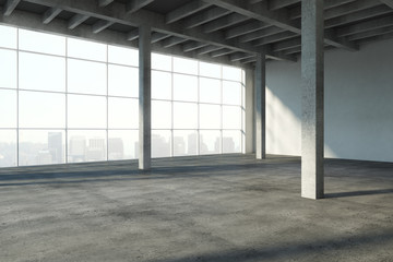 Clean concrete interior