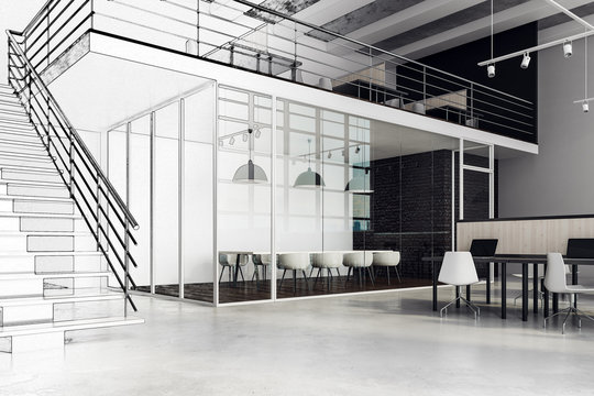 Large office interior