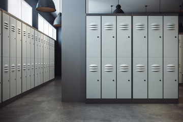 Stylish locker room interior