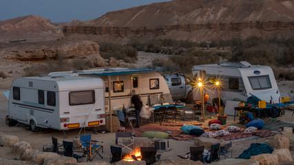 Caravan/ RV camping vacation in Mitzpe Ramon, Israel