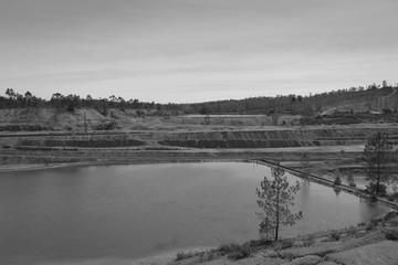 copper mine in Minas de Sao Domingos, Alentejo Portugal