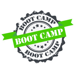Boot camp green color stamp.sign.seal.logo
