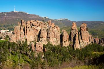 The rocks of Belogradchik (Bulgaria) - red color rock sculptures part of UNESCO World Heritage