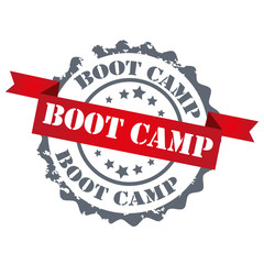 Boot camp red color stamp.sign.seal.logo