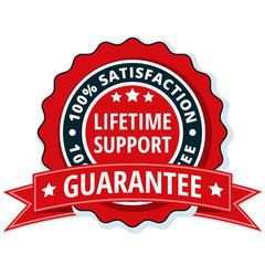 Lifetime Support guarantee label illustration