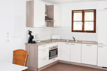 Photo sur Toile Les Textures Clean modern kitchen in a modern home