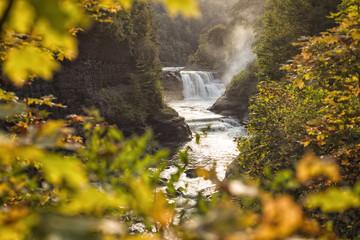 cascada y naturaleza