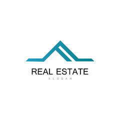 triangle roof real estate logo