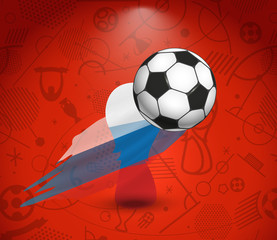 Soccer cup vector concept