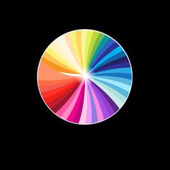 Vector multicolored circle palette