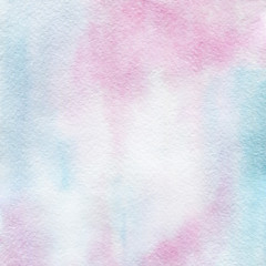 Watercolor texture with pink, blue and purple colors