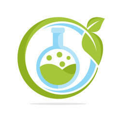 icon logo with organic lab test concept