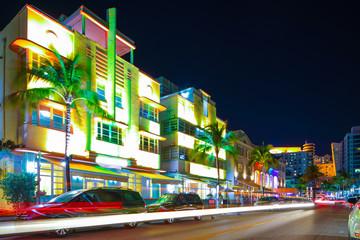 Going out Ocean Drive Miami Beach Florida