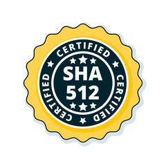 SHA-512 Certified label illustration