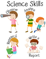 Children and different science skills