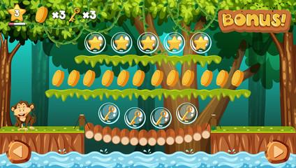 A Game Template Jungle Scene