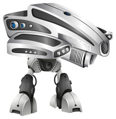 Modern robot design with big head