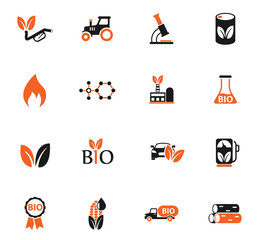 bio fuel color icon set