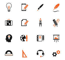 creative process color icon set