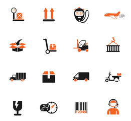 delivery icon set