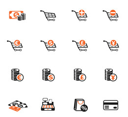 e-commerce color icon set