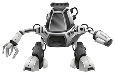 A Modern Robot on White Background