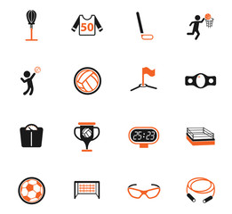 sport color icon set