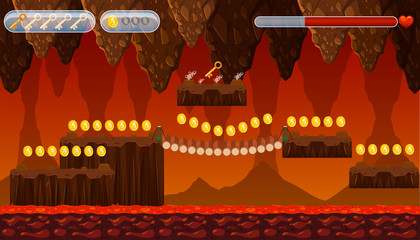 A Lava Cave Game Template