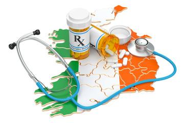 Healthcare in Ireland concept, 3D rendering