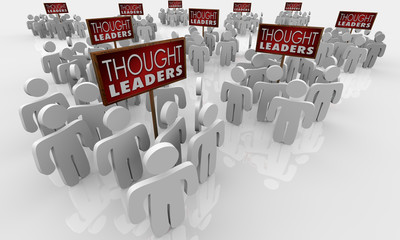 Thought Leaders Top Thinkers Experts Signs Groups 3d Illustration
