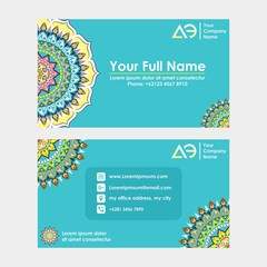 name card, or company card with mandala ornament