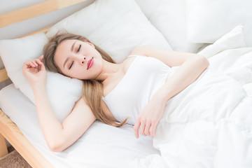 woman sleep on the bed