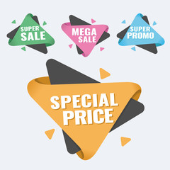 special offer, up to 75 off, vector illustration