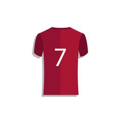 Jersey Soccer Number 7 Vector Template Design Illustration