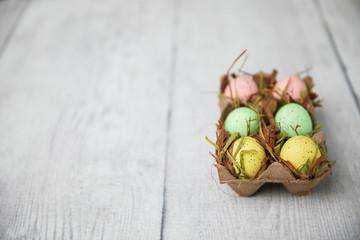 Modern Carton of Easter Eggs Decor
