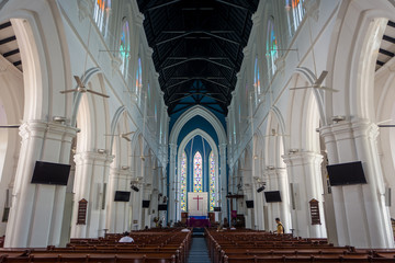 Cathedral of St. Andrew in Singapore.