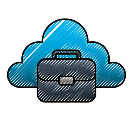 cloud storage business suitcase document office image