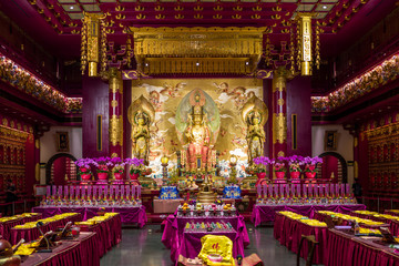 The Tooth Relic temple in Singapore