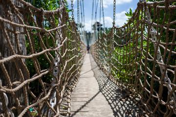 Bridge at Sentosa Beach in Singapore