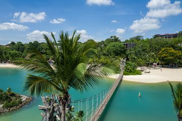 The Sentosa Beach in Singapore