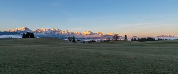 Bergpanorama bei Füssen im Allgäu