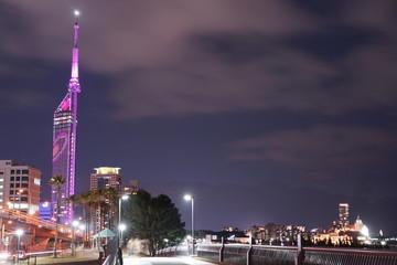福岡市西区の夜景都市風景
