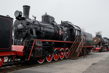 an old train for a couple of times 1935-1950