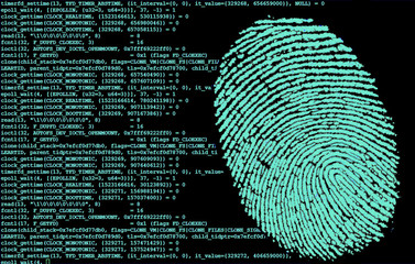 Obraz Huella dactilar en el ordenador - fototapety do salonu