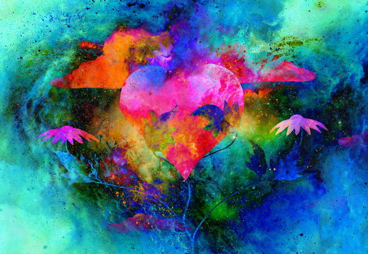 Healing power of nature nurturing and recovering heart with her powers.