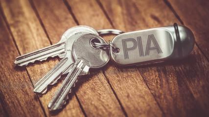 trousseau de clé : PIA