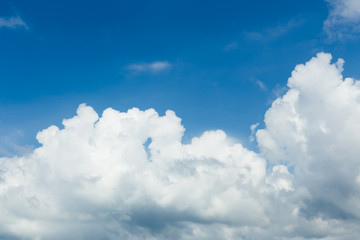 blue sky with white clouds, background, wallpaper